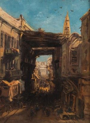 Eduard Hildebrandt (1817 Gdańsk-1868 Berlin), Bazar w Kairze, 1860 r.