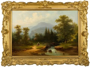 Colestin Brügner (1824 Berlin-1887 Berlin), Droga nad strumieniem, 1865 r.