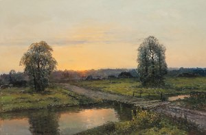 Wiktor Korecki (1890 Kamieniec Podolski - 1980 Milanówek k. Warszawy), Zachód słońca