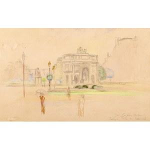 Jan Cybis (1897 Wróblin - 1972 Warszawa), Łuk Triumfalny na Place du Carrousel w Paryżu, 1947 r.