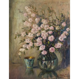 Anton de Brade (1887-1973), Różowe kwiaty