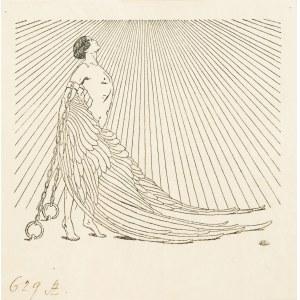 Edward Okuń (1872 Wólka Zerzeńska - 1945 Skierniewice), Prometeusz. Ex libris Stefana Żeromskiego, 1909 r.