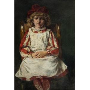 Józef Krzesz-Męcina (1816 Kraków-1934 Poznań), Portret dziewczynki