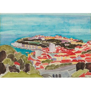 Maria Epstein-Wlazłowska (1911 Urzejowice - 1971 Gdynia), Lazurowe Wybrzeże - Monaco, 1966 r.