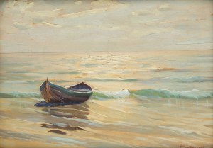 Otton Edward Borzemski (?-1978), Łódka na brzegu