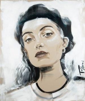 Maja Berezowska (1893 lub 1898 Baranowicze-1978 Warszawa), Róże, 1974 r.