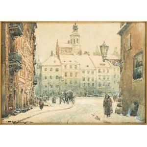 Władysław Chmieliński (1911 Warszawa – 1979 tamże), Widok na Rynek Starego Miasta w Warszawie