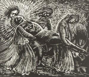 Stefan Mrożewski (1894 Częstochowa –1975 w Walnut Creek), Złożenie do grobu, 1929 r.