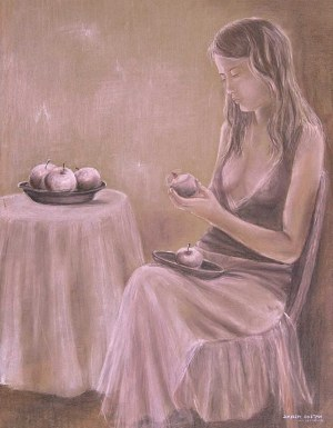 Daria Sołtan-Krzyżańska, Obierająca jabłka