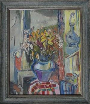 Judyta Sobel, Wnętrze z bukietem kwiatów