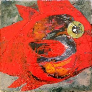 Paula Solańska, Ryba-obraz ceramiczny (2016)