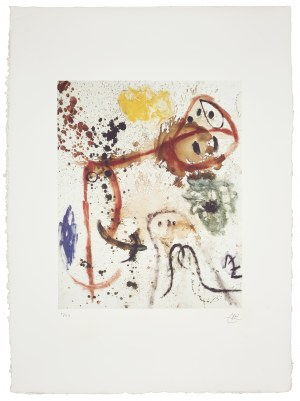 Joan Miro (1893-1983), Kompozycja, 1973