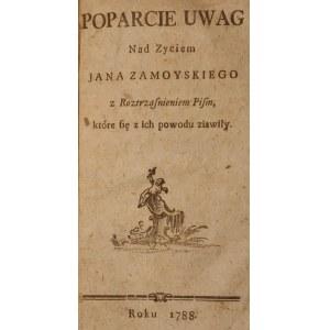 BAUDOUIN DE COURTENAY, JAN, Poparcie Uwag nad zyciem Jana Zamoyskiego z roztrząsnieniem pism, które ...