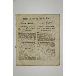KĘPNO. Szczególny regulamin względem pobierania i kontrolowania podatków od młynów i rzeźni w mieści ...