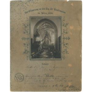 BYDGOSZCZ. Wnętrze pruskiego kościoła garnizonowego w Bydgoszczy sprzed 1899 r. Pierwotnie zlikwidow ...
