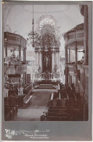 KAMIENNA GÓRA. Zdjęcie wnętrza kościoła Łaski (Gnadenkirche), dziś kościół Matki Bożej Różańcowej. A ...