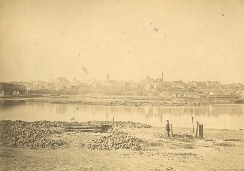 WARSZAWA. Panorama Warszawy z prawego brzegu Wisły. Brak sygnatury, ale zdjęcie ma wszystkie cechy a ...