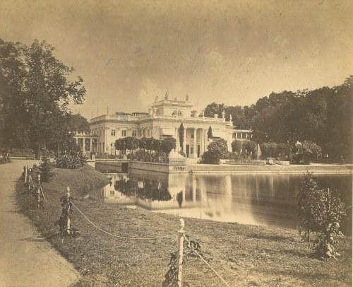WARSZAWA. Łazienki Królewskie. Na odwrocie ołówkiem May 1873 r. Anonim; wym. zdjęcia: 210x173 mm; ka ...