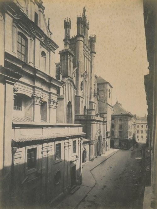 WARSZAWA. Bazylika Archikatedry św. Jana Chrzciciela. Anonim, lata siedemdziesiąte XIX w.; wym. 265x ...