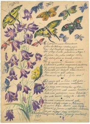 Adres wierszem na cześć Edwarda Kujacińskiego napisany przez Marię Wicherkiewicz z okazji imienin w ...