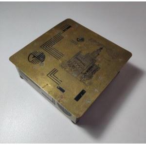 POZNAŃ. Mosiężne pudełko na papierosy ze spuścizny po E. Kujacińskim. Art-deco w najlepszym stylu, z ...