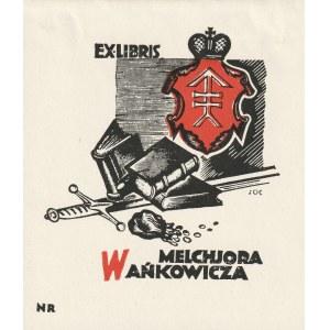 WARSZAWA, KRESY. Stanisław Ostoja Chrostowski. Exlibris Melchiora Wańkowicza, ok. 1930, drzeworyt dw ...