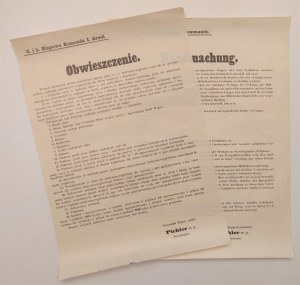 KIELCE. Zarządzenie gen. Ferdinanda Pichlera, dotyczące wprowadzenia stanu wyjątkowego na zajętych p ...