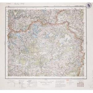 GŁĘBOKIE, DYNEBURG. Wyd. 1933; wym.: 540x490 mm, podziałka 1:300000; stan bdb. Nieaktualna pieczęć w ...