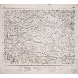 HUMAŃ. Wyd. 1931; wym.: 540x490 mm, podziałka 1:300000; stan bdb. Nieaktualna pieczęć własnościowa. ...