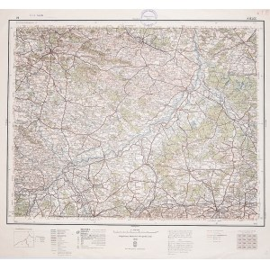 KIELCE. Wyd. 1938; wym.: 540x490 mm, podziałka 1:300000; stan bdb. Nieaktualna pieczęć własnościowa. ...