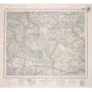 ŁUKAWIEC, DAWIDGRÓDEK. Wyd. 1928; wym.: 540x490 mm, podziałka 1:300000; stan bdb. Nieaktualna pieczę ...