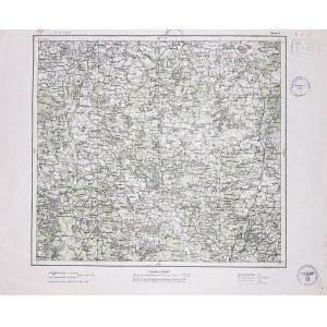 NEWEL, OPOCZKA (niedaleko Pskowa). Mapa opracowana jeszcze w 1920 r. przez Instytut Wojskowo-Geograf ...