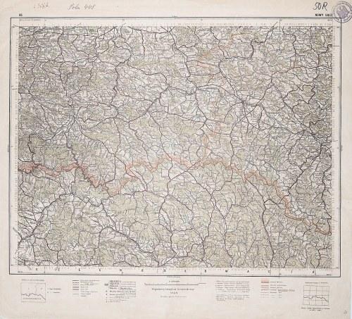 NOWY SĄCZ. Wyd. 1932; wym.: 540x490 mm, podziałka 1:300000; stan bdb. Nieaktualna pieczęć własnościo ...