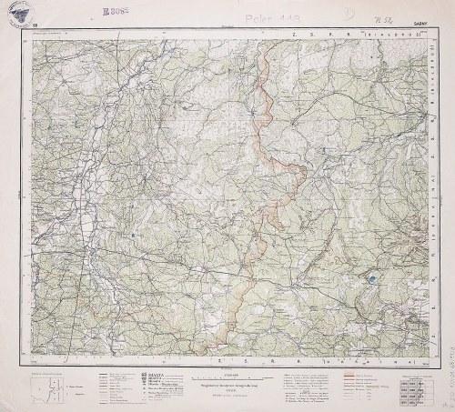 SARNY. Wyd. 1928; wym.: 540x490 mm, podziałka 1:300000; stan bdb. Nieaktualna pieczęć własnościowa. ...