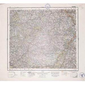 WIŁKOMIERZ (lit. Ukmergė). Wyd. 1935; wym.: 540x490 mm, podziałka 1:300000; stan bdb. Nieaktualna pi ...