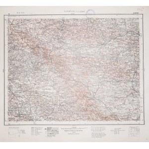 ZAMOŚĆ. Wyd. 1932; wym.: 540x490 mm, podziałka 1:300000; stan bdb. Nieaktualna pieczęć własnościowa. ...
