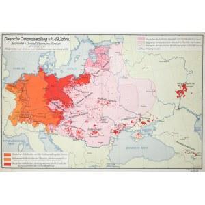 Deutsche Ostlandsiedlung v. 11. -19. Jahrh., Mapa powstała jako kartograficzne przedstawienie tez za ...