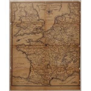 Mapa działań wojennych na Zachodzie Europy 1940. Wydawnictwo Polskich Sił Zbrojnych na Zachodzie. W ...