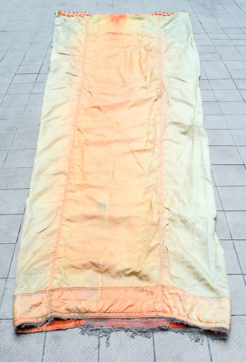 Rękaw powietrzny z lotniska RAF-u w Wlk. Brytanii, długość: 4,1 m, zielonkawo-pomarańczowy; stan bdb ...