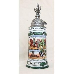 POZNAŃ. Kufel rezerwisty 5 szwadronu I regimentu strzelców konnych odbywającego służbę w latach 1910 ...