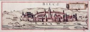 BIECZ. Panorama miasta, pierwotnie na wspólnym arkuszu z panoramą Sandomierza; passe-partout; wym.: ...