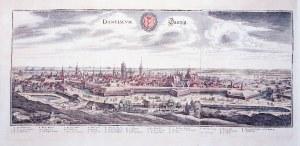 GDAŃSK. Panorama miasta z Biskupiej Górki (od południowego zachodu), kopia panoramy Gdańska Aegidius ...