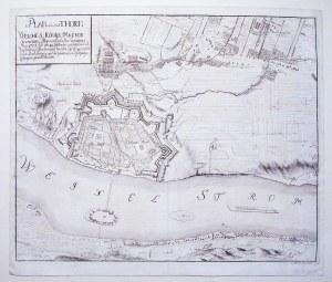 TORUŃ. Plan miasta i najbliższej okolicy podczas oblężenia przez wojska szwedzkie w czasie wojny pół ...