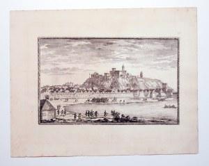 IŁŻA. Widok na zamek; lekkie zażółcenia marginesów; wym. płyty: 342x213 mm; tyt. na tle nieba: ŸLTZE ...