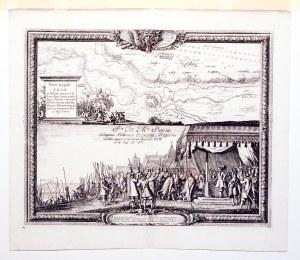 KOŁO. Plan miasta i okolicy w czasie potopu szwedzkiego, tyt. w kartuszu w formie cokołu – Situs Opp ...