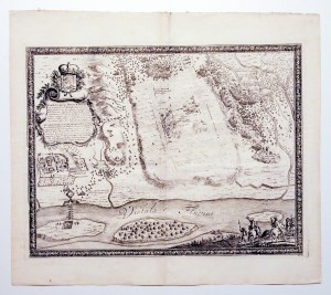 TCZEW. Plan bitwy pod Tczewem, stoczonej 23 VIII (2 IX) 1657 r., pomiędzy gdańszczanami a Szwedami p ...