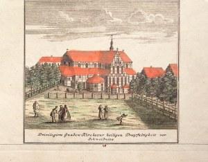 ŚWIDNICA. Kościół Pokoju; widok pierwotnie zamieszczony na VI tablicy; wym.: 164x153 mm; Privilegirt ...