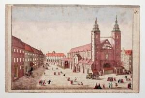 WROCŁAW. Kościół św. Marii Magdaleny; według rys. F.B. Wernera, wyd. G.B. Probst, Augsburg, ok. 1760 ...