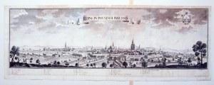 ELBLĄG. Panorama miasta; według rys. F.B. Wernera, wyd. spadkobiercy Jeremiasa Wolffa (zapewne Johan ...
