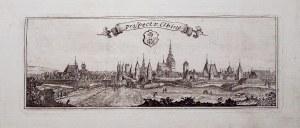 ELBLĄG. Panorama miasta od północnego wschodu; rys. i ryt. J.F. Endersch, przed 1746; miedz. cz.-b., ...